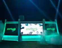 DJ Booth in green