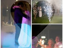 Fireworks and first dance
