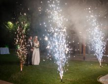 fireworks in couple's entrance